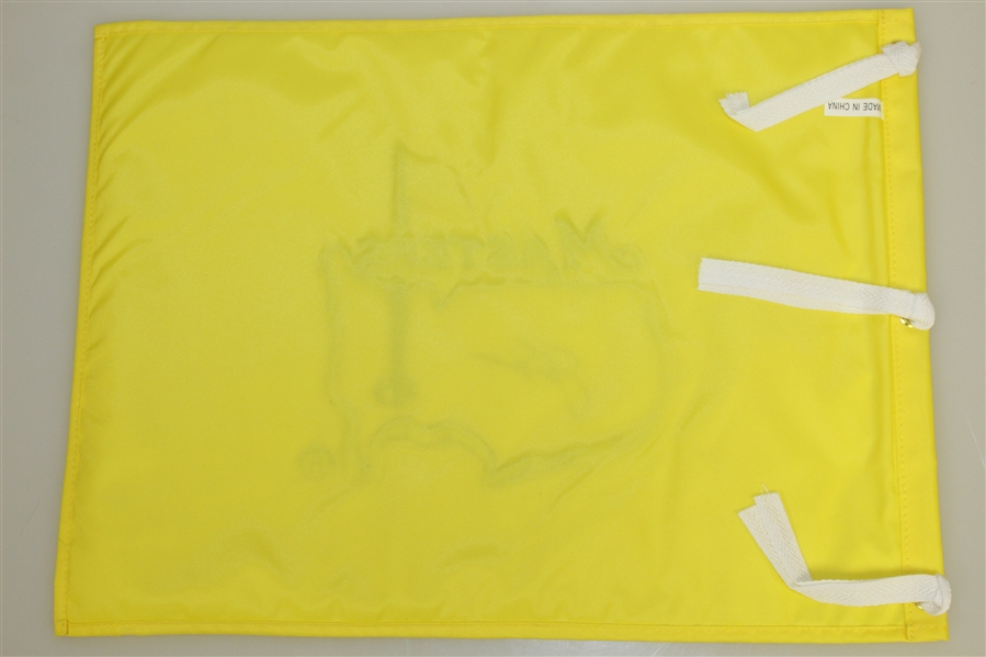 Jack Nicklaus Signed Undated Masters Embroidered Flag JSA ALOA