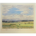 The First Green Muirfield Signed by Artist Arthur Weaver with Hand Sketched Remarque - 1968
