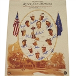 1999 Ryder Cup Team Issued Official Poster - Signed by Team - FULL JSA #Z93555