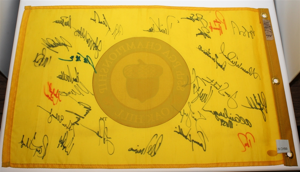 2003 PGA Championship CHAMPS Flag - Nicklaus, Player, Mickelson, & more FULL JSA #Z09261