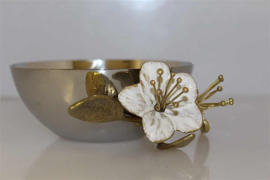 Masters Logo Michael Aram  Designed Flowering Peach Bowl