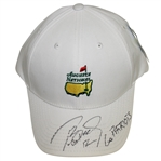 Tom Brady Signed Augusta National White Member Hat with 12 & Go Patriots JSA ALOA