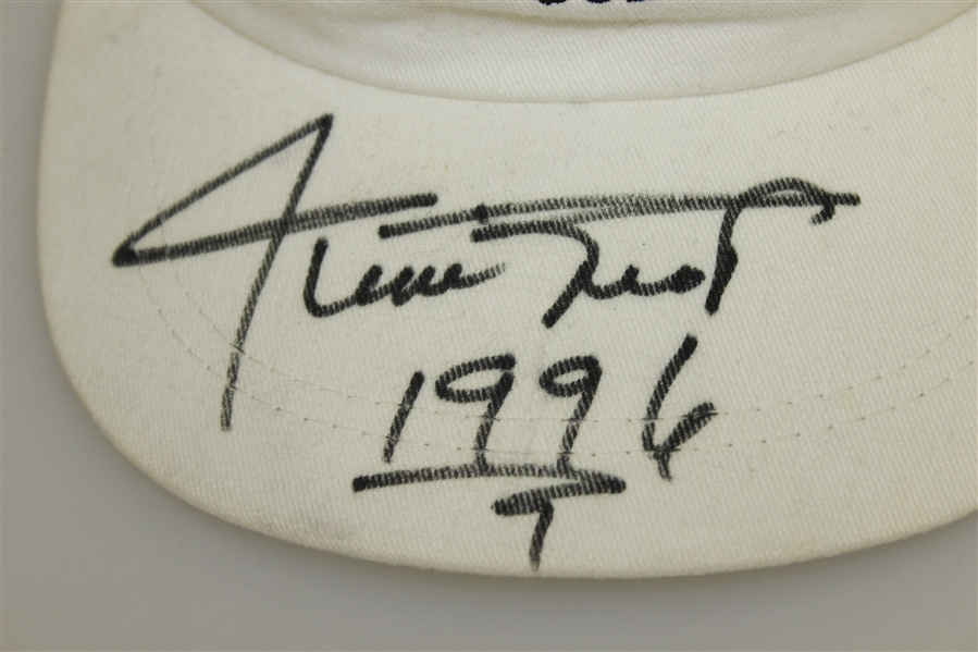 Willie Mays Signed White Raven Golf Club Hat with '1996' Inscription JSA ALOA