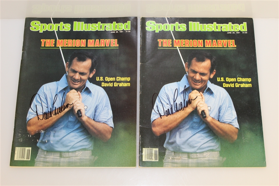 David Graham Signed 1979 PGA Program & 2 SI's with Hale Irwin Signed 1984 US Open Program JSA ALOA