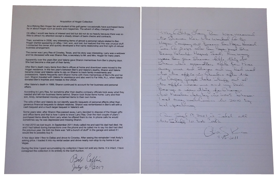 Copy of Letter From Ben Hogan to President Eisenhower Asking for Autograph