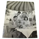 Ben and Valerie Hogan Oversize B&W Original Loomis Dean Life Magazine Photo - Country Club Lunch