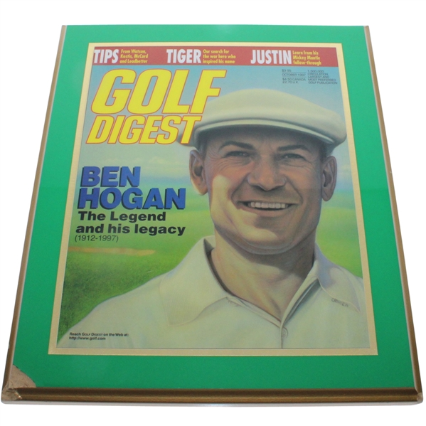 'Ben Hogan - The Legend and His Legacy' Golf Digest Plaque