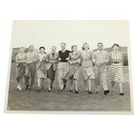 Ben Hogans Personal Photo with Byron Nelson & Jimmy Thompson with Actresses