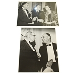 Ben Hogans Personal Photos - Shaking Hands with Award Winners & Shaking Hand