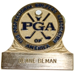 Deane Bemans Undated The PGA of America Large Pinback Name Badge