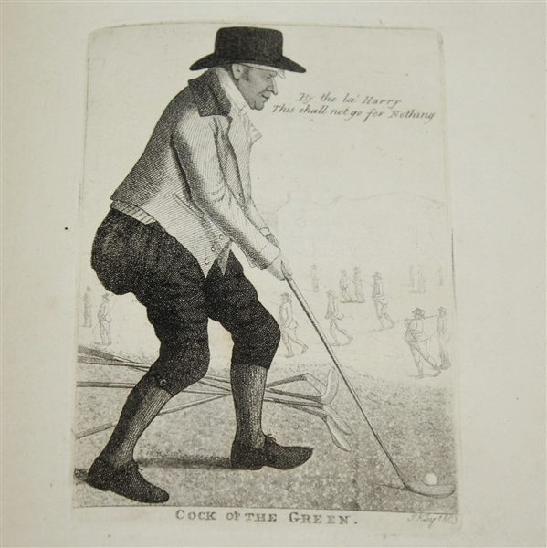 1838 Alexander McKeller the 'Cock of the Green' - Etchings by Edinburgh Miniature Painter John Kay