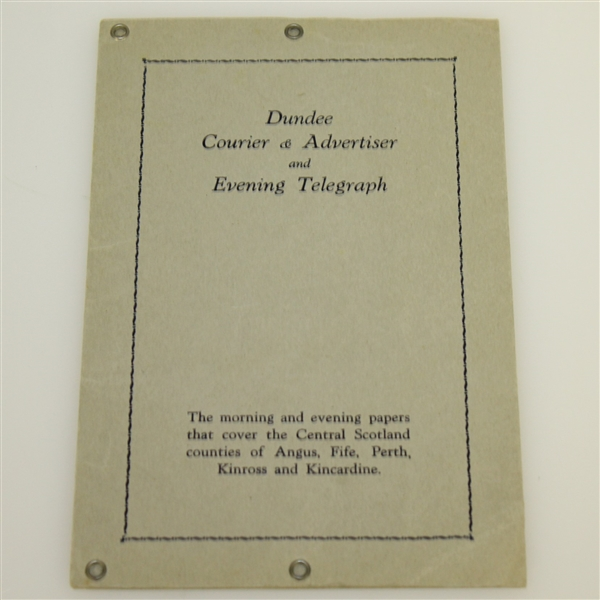 1931 British Open Golf Championship Plan in Colour of Carnoustie Course Pamphlet