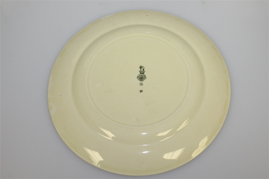 Royal Doulton Golf Plate 'Every Dog Has His Day, And Every Man His Hour'