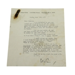 Alistair Cooke Signed Letter to Charles Price - June 22, 1987 JSA ALOA