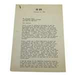 Bob Hope Letter to Charles Price - February 19, 1962