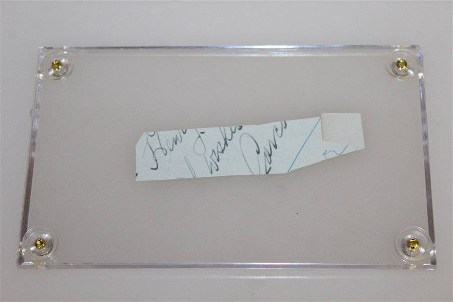Cary Middlecoff Signed Cut - Personalized JSA ALOA