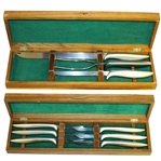 Augusta National Golf Club Knife & Grill Set - Two Boxes - 1983 Media Gift