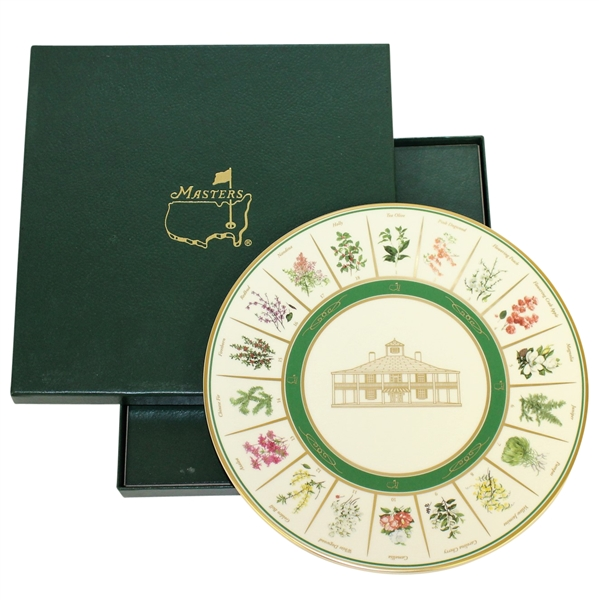 Masters Tournament Pickard Beautification Committee Plate - With Original Box