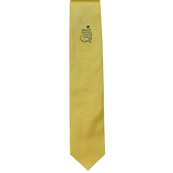 Augusta National Golf Club Member Only Gold Logo Tie