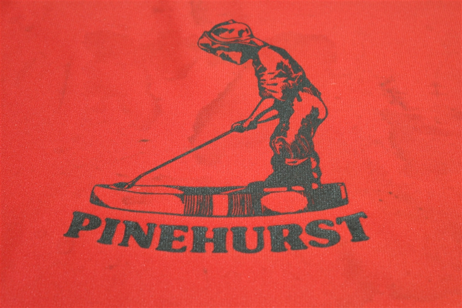 Pinehurst Golf Club Red Putter Boy Used Course Flown Flag