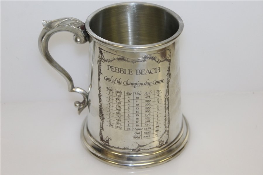 Pebble Beach Pewter Golf Tankard - Made in England