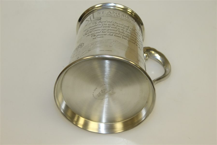 St. Andrews 'The Old Course' Pewter Golf Tankard - Made in England