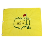 Jack Nicklaus Signed Masters Undated Flag with All 6 Wins Notation JSA ALOA