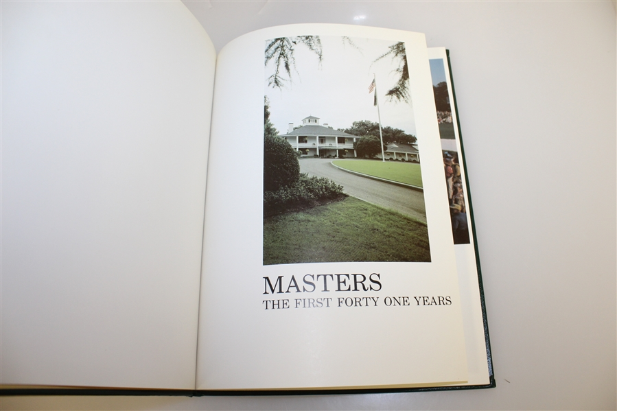 Masters Tournament 'First Forty One Years' Annual Book