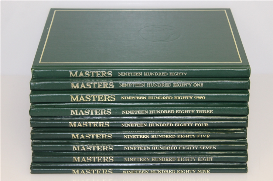 Nine Masters Tournament Annual Books - 1980-1989 (1986 Not Included)