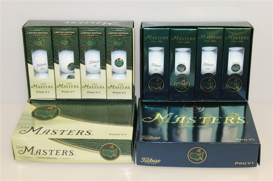 Two Dozen Masters Limited Edition Pro-V1 Golf Balls - 2014 & 2016