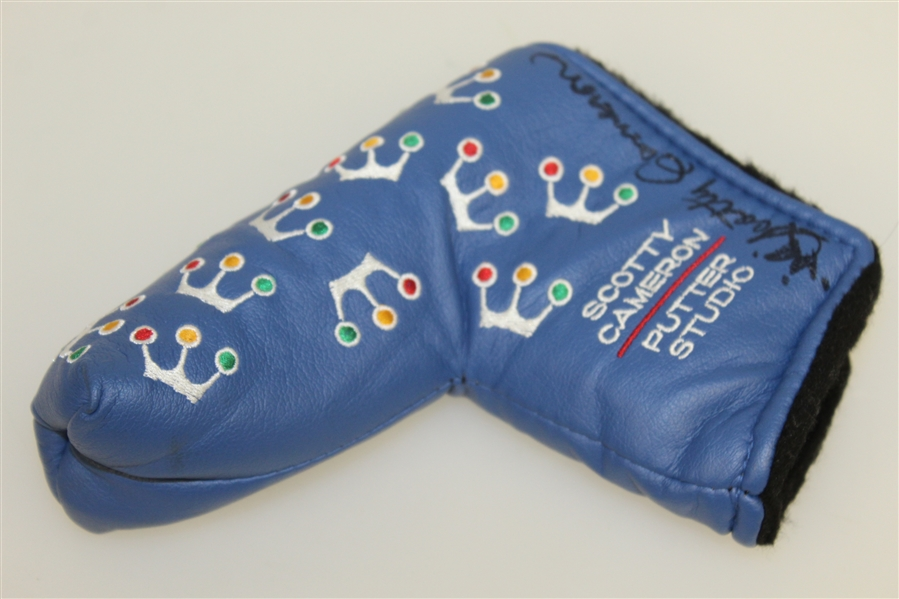 Scotty Cameron Signed Cameron Limited Edition 'Putter Studio' Blue Mini Crown Headcover - 2002 JSA ALOA