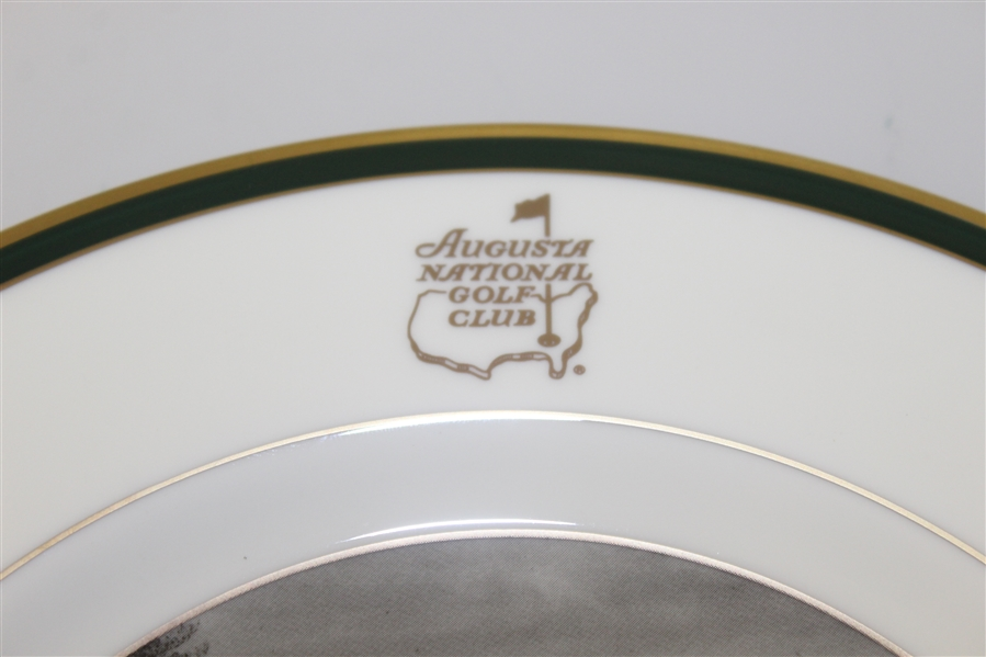 Augusta National Members 8 Inch Pickard Plate Depicts Clubhouse - In Original Box