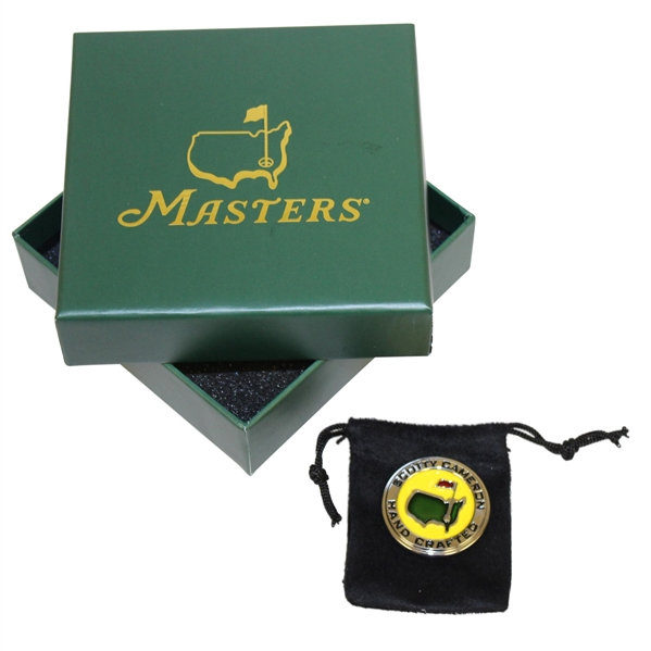 2017 Masters Tournament Scotty Cameron Round Ball Marker in Original Box & Pouch