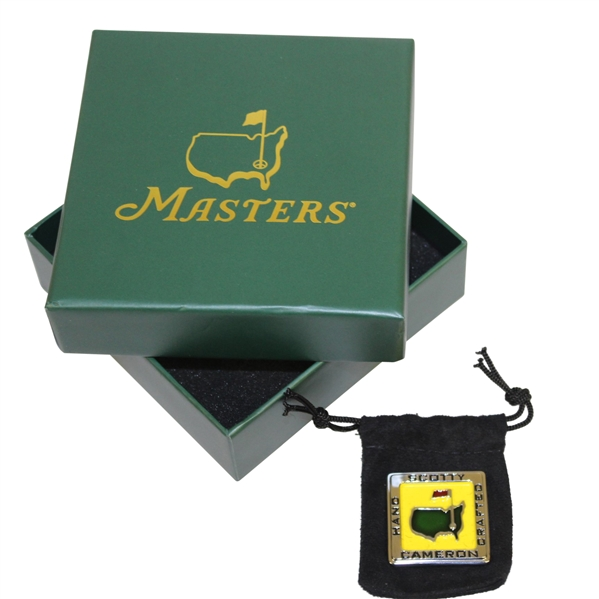2017 Masters Tournament Scotty Cameron Square Ball Marker in Original Box & Pouch