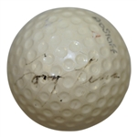 1964 British Open Champ Tony Lema (D-1966) Signed Golf Ball-First One We Have Had! JSA ALOA