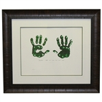 Jack Nicklaus Signed Ltd Ed Art of Nicklaus Masters Hand Print Giclée Framed JSA ALOA