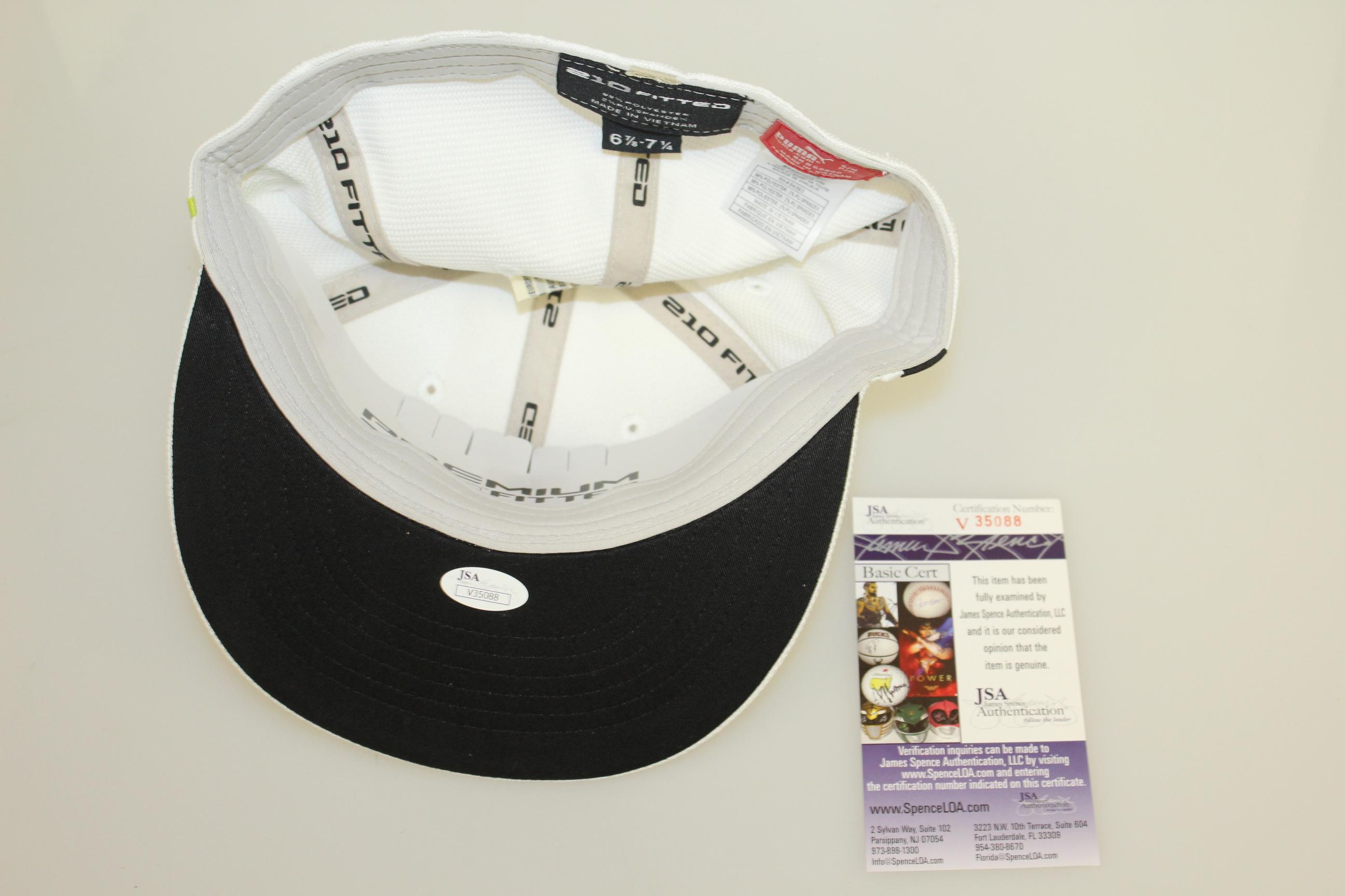 5a4c9602d60 Lot Detail - Rickie Fowler Signed White Green Monoline PUMA Hat JSA ...