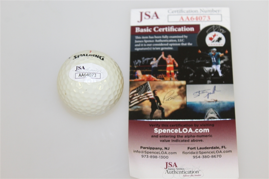 Dustin Johnson Signed Pebble Beach Golf Links Logo Golf Ball JSA #AA64073