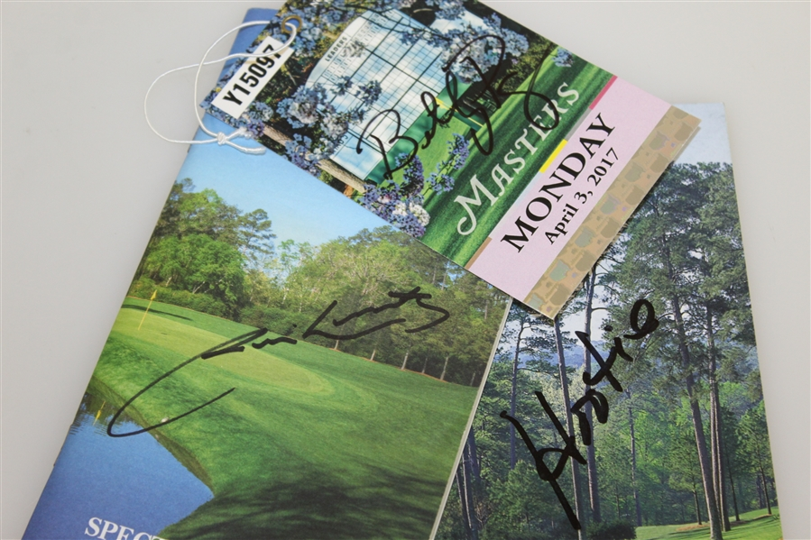 Hootie Johnsons, Billy Payne, & Jim Nantz Signed Masters Spectator Guides JSA ALOA