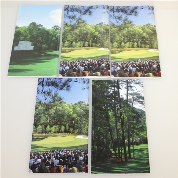 Five Masters Champions Signed Spec Guides - Watson, Couples, Mize, Lyle, & Crenshaw JSA ALOA