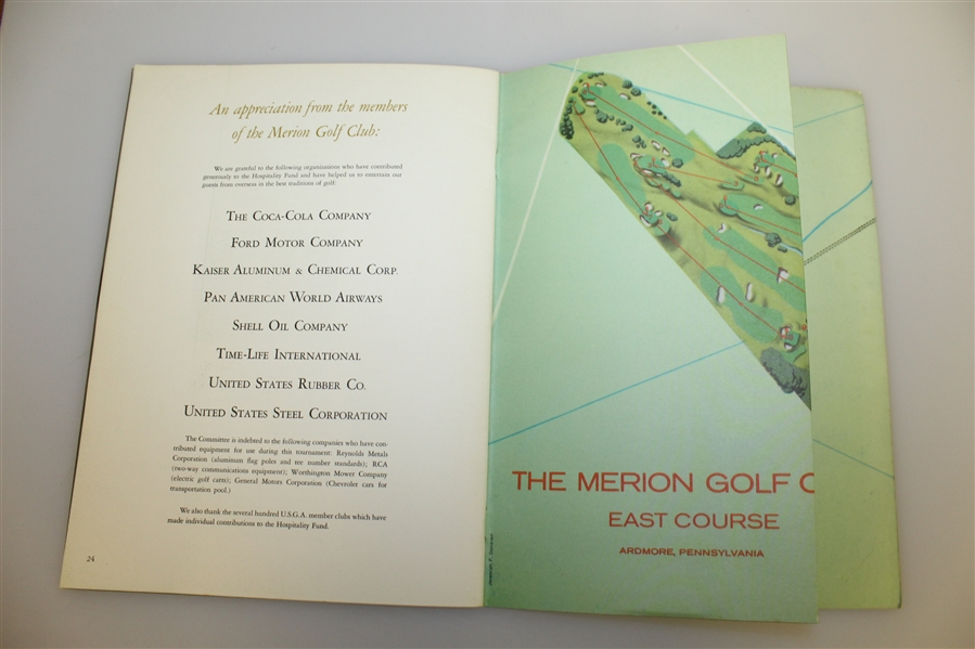 Jack Nicklaus Signed 1960 World Amateur Team Championship at Merion Program JSA ALOA