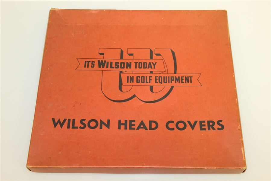 1950's Wilson Red Head Covers #1, 2, & 3 in Original Box - Never Used Condition
