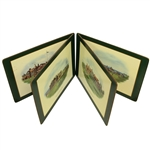 "Set of Four Cork Board Pimpernel Famous British Golf Clubs Placemats - 12"" x 16"""