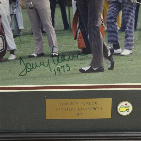 Tommy Aaron Signed Masters Shot Display with Notation - Framed JSA ALOA