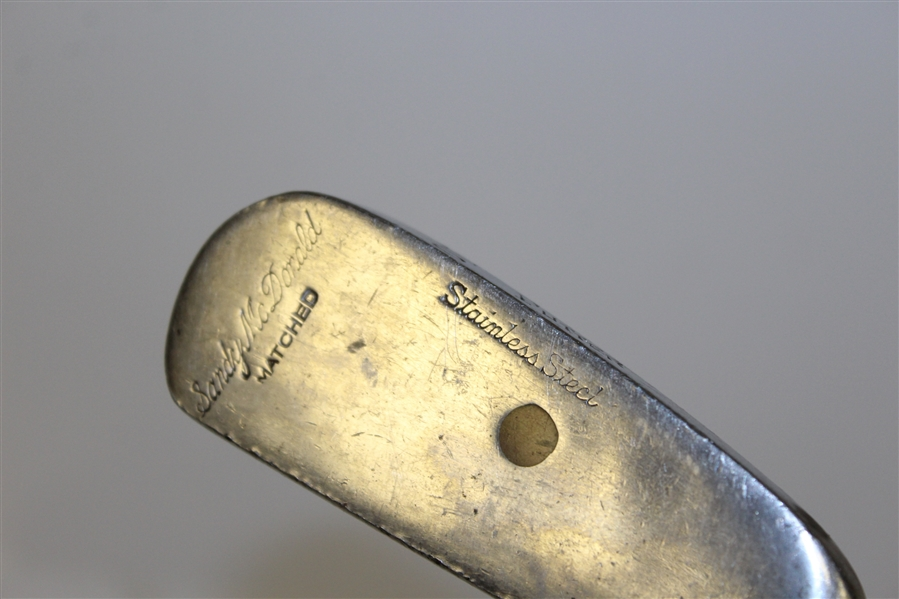 Sandy McDonald Stainless Steel Matched Face Insert Putter