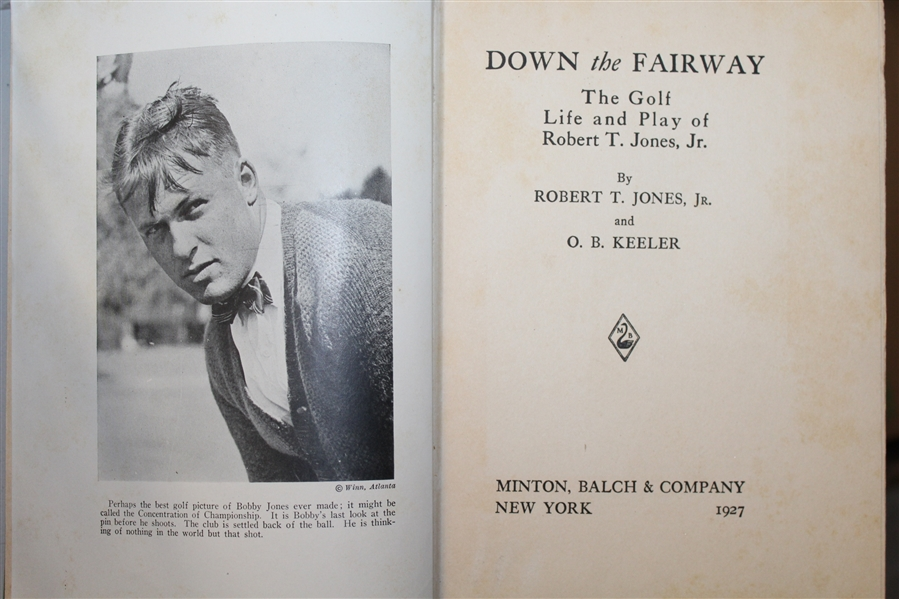 Robert Bobby T. Jones Jr. & O.B. Keeler Signed 1927 'Down The Fairway' Book JSA ALOA