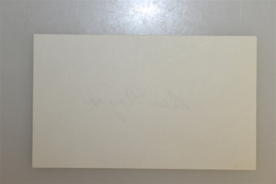Ben Hogan Signed Index Card JSA ALOA
