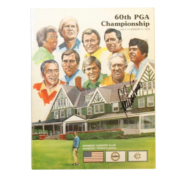 Lee Trevino Signed 1978 PGA Championship at Oakmont CC Official Program JSA ALOA