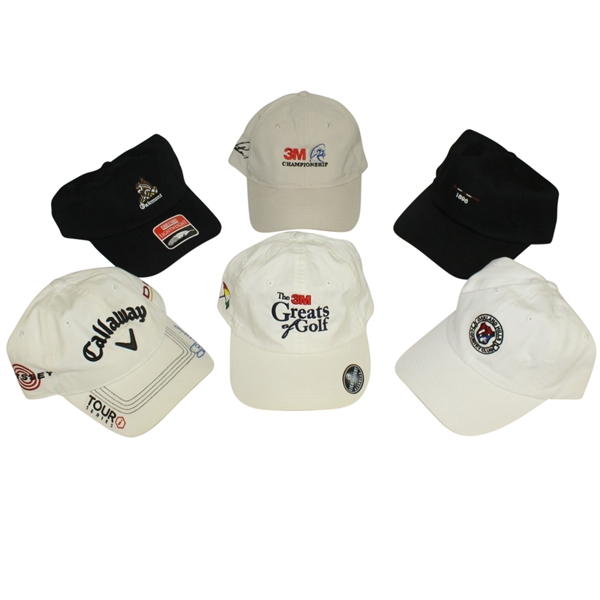 Lot of 6 Various Championship & Country Club Hats - 1 Lee Trevino Signed JSA ALOA