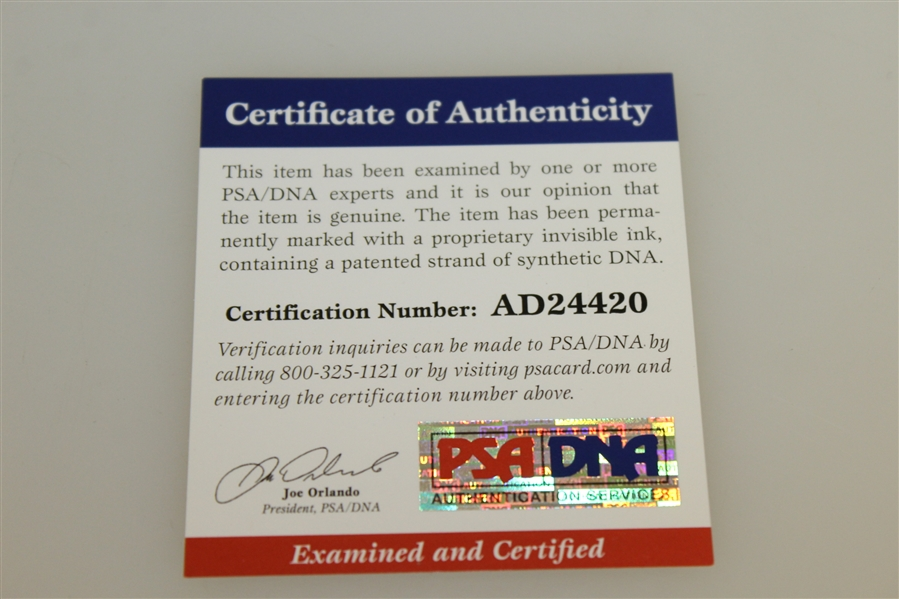 Dustin Johnson Signed Action Photo PSA DNA #AD24420